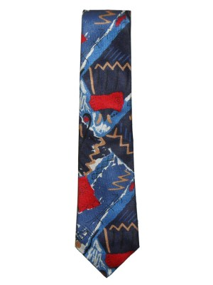 Abstract design silk tie by Hugo Boss