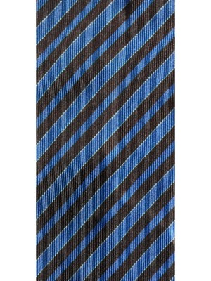 Vintage Dunhill blue and brown striped tie