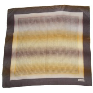 Geometric design vintage silk scarf in shades of brown by Tiktiner
