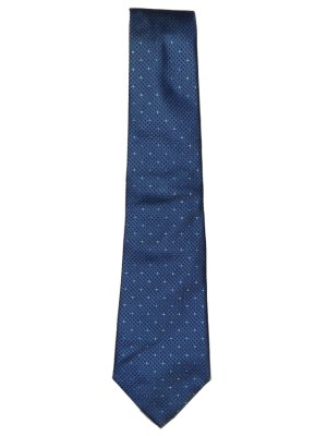 Textured blue silk tie by Turnbull & Asser