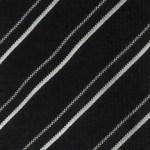 Black and white diagonal striped silk tie by Giorgio Armani