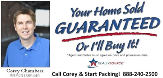Corey Chambers Your Home Sold GUARANTEED or I'll Buy It*