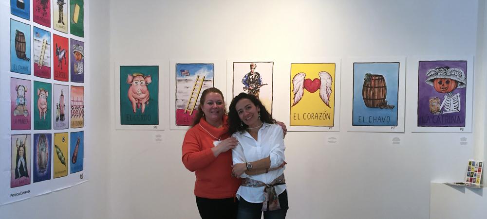 Martha Bátiz & Patricia Espinosa at Glendon Gallery.