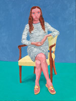 David Hockney<br> Oona Zlamany, 22-23 July, 2014<br> Acrylic on canvas<br> 48 x 36 in. (121.9 x 91.4 cm)