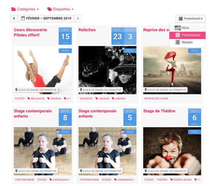 photo agenda web école de danse l'alternative otpions vues