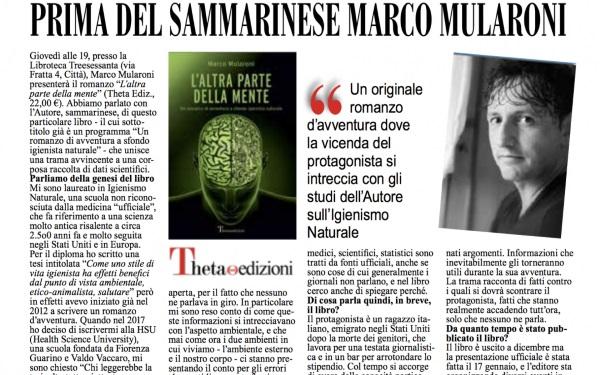 Opera prima del sammarinese Marco Mularoni