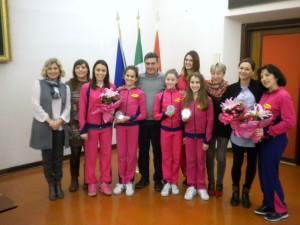 Premiata in Comune la squadra dell'Aurora Fano di ginnastica