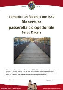 Domenica a Urbania riapre la passerella ciclopedonale del Barco Ducale