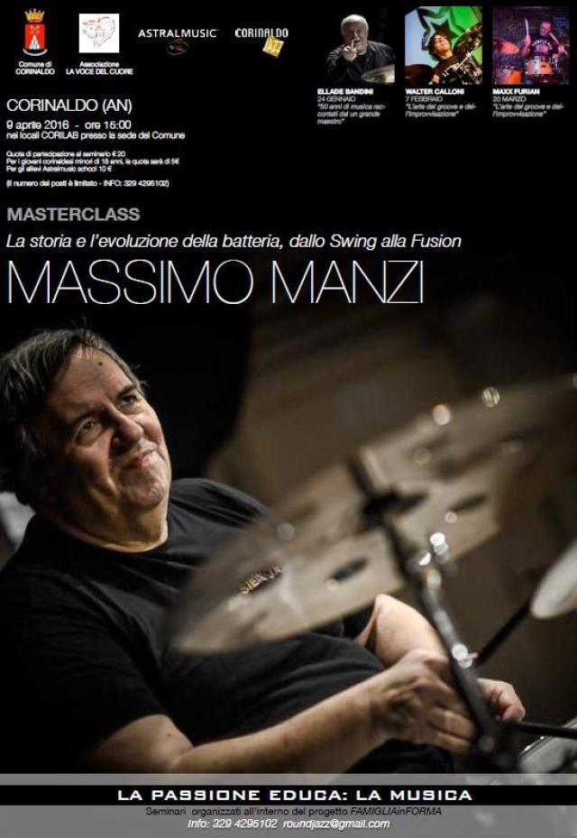 A Corinaldo incontro con il batterista Massimo Manzi