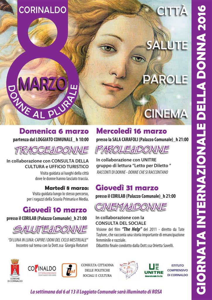 Non solo 8 marzo, a Corinaldo un mese dedicato alla donna