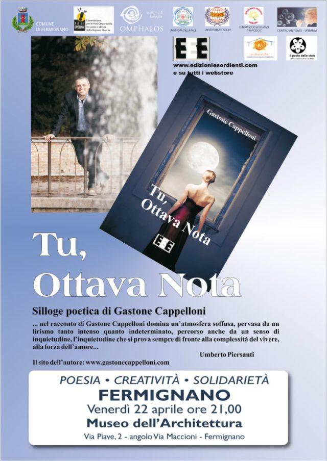"""A Fermignano il libro """"Tu, ottava nota"""" di Gastone Cappelloni"""