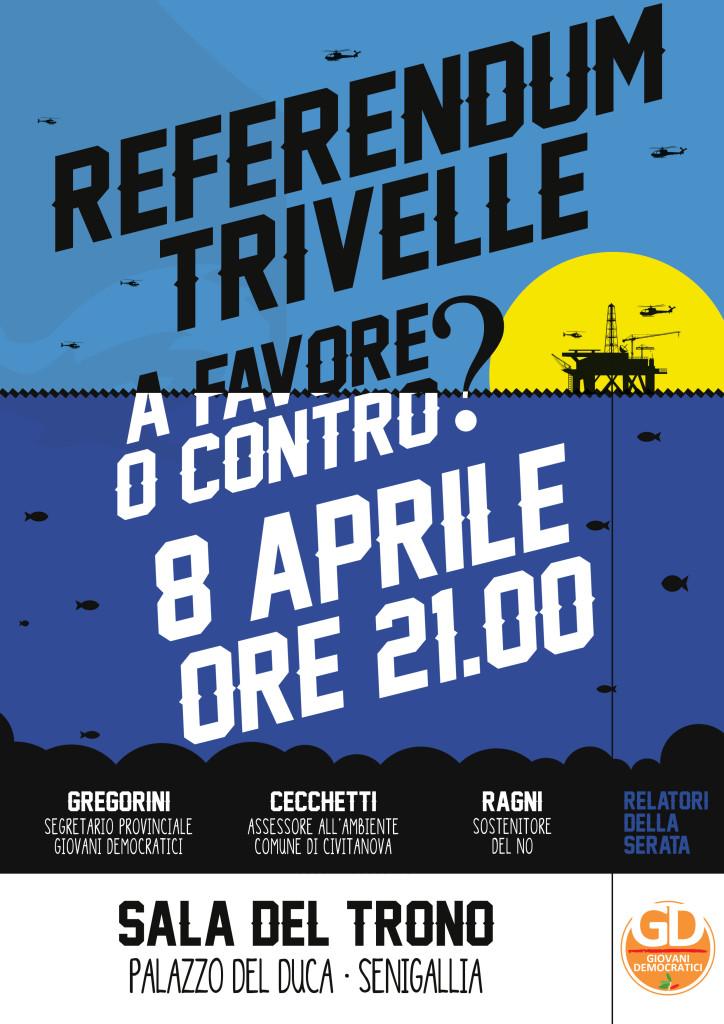 Referendum e trivelle, i Giovani del Pd ne parlano a Senigallia