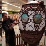 Ecco l'uovo di Pasqua gigante dell'Istituto Panzini di Senigallia