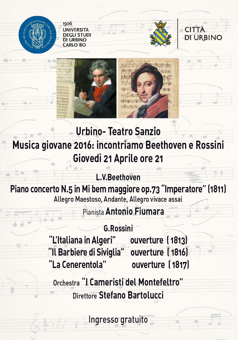 Incontriamo Beethoven e Rossini a Urbino