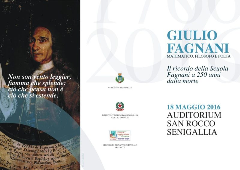All'Auditorium di San Rocco il convegno dedicato al senigalliese Giulio Fagnani