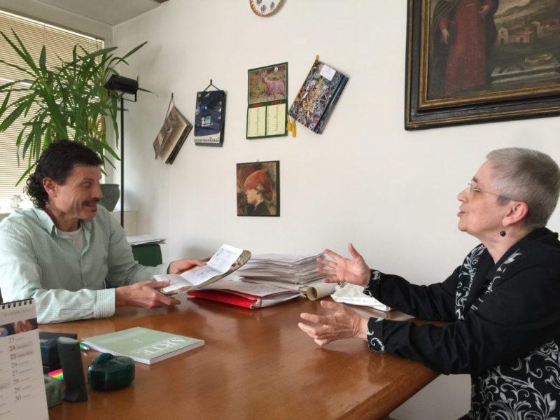 L'entusiasmo di Bonita Cleri per rilanciare Fermignano to da Bonita Cleri al sindaco Giorgio Cancellieri.JP