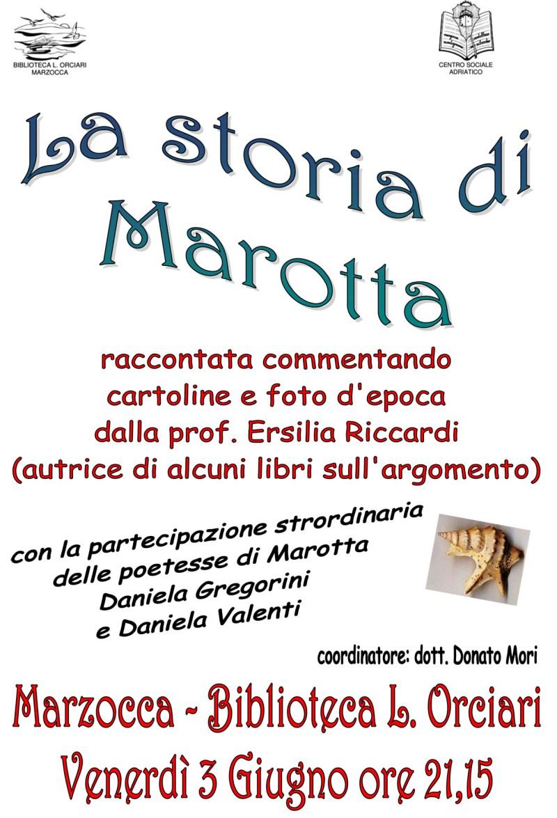 Una piacevole serata di ricordi, foto e poesie sulla storia di Marotta