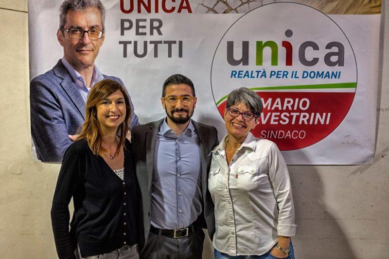 Unica con tre volti nuovi: Samuele Mancini, Rosita Portavia, Luisa Cecarini