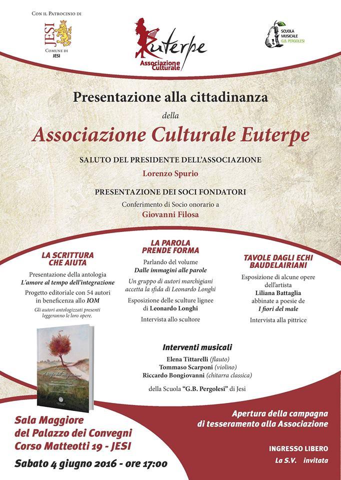 L'Associazione Culturale Euterpe debutta sabato a Jesi