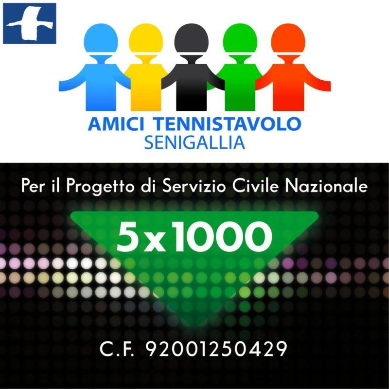 Tennistavolo, il 5x1000 per il progetto di Servizio Civile