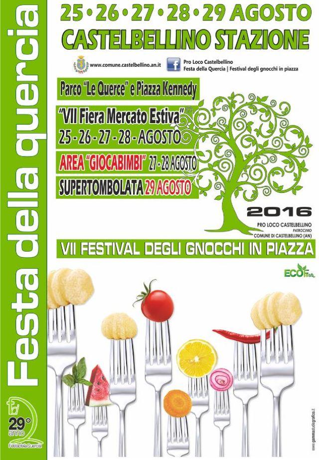 A Castelbellino è l'ora della Festa della Quercia