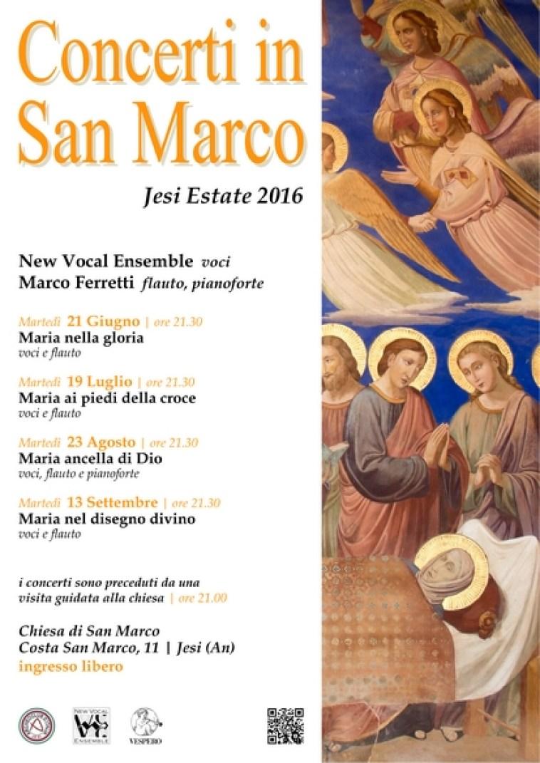 """Martedì a Jesi il terzo appuntamento della rassegna """"Concerti in San Marco"""""""