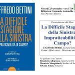 SENIGALLIA / La difficile stagione della sinistra, Goffredo Bettini presenta il suo libro