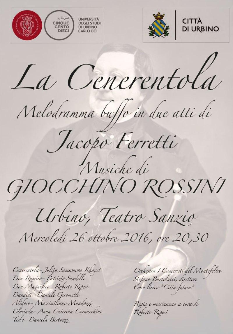 La Cenerentola di Roberto Ripesi lo spettacolo lirico più atteso del 2016 per il teatro Sanzio di Urbino