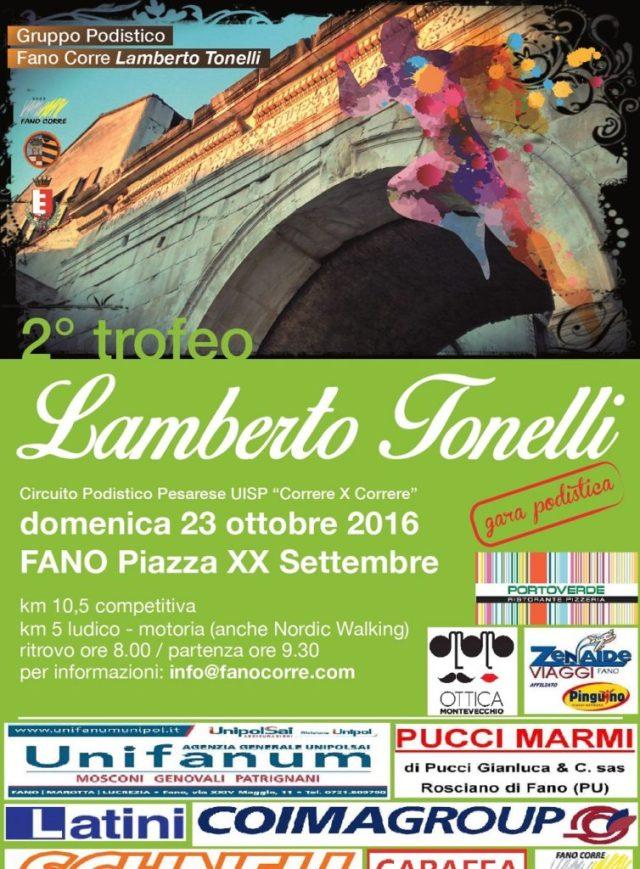 Domenica a Fano torna la corsa podistica valida per il Trofeo Lamberto Tonelli