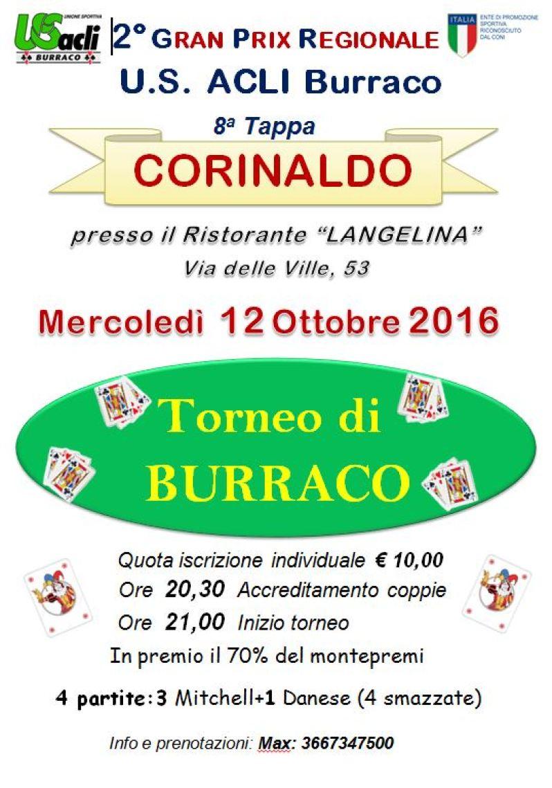 CORINALDO / Mercoledì al ristorante Langelina l'ottava tappa del Gran prix regionale di burraco dell'U.S. Acli Marche