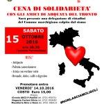 Sabato a San Costanzo una cena di solidarietà con gli amici di Arquata del Tronto