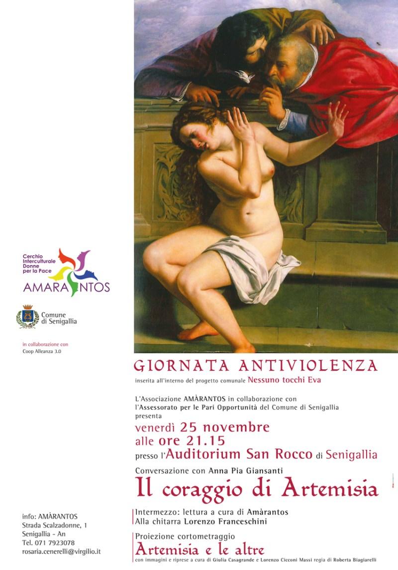 SENIGALLIA / Il coraggio di Artemisia venerdì all'Auditorium San Rocco