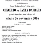 Sabato all'Odeon il concerto per Santa Barbara