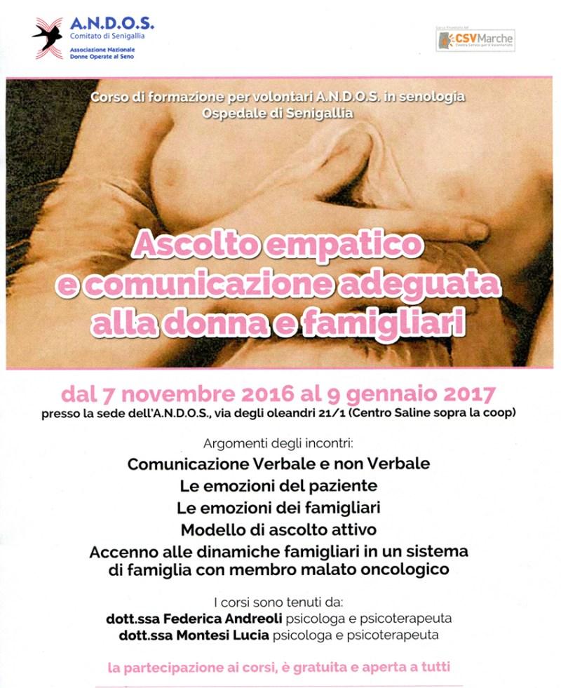 SENIGALLIA / L'Andos organizza un corso di formazione sull'ascolto empatico