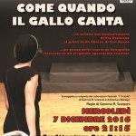 """SENIGALLIA / All'auditorium San Rocco va in scena """"Come quando il gallo canta"""""""