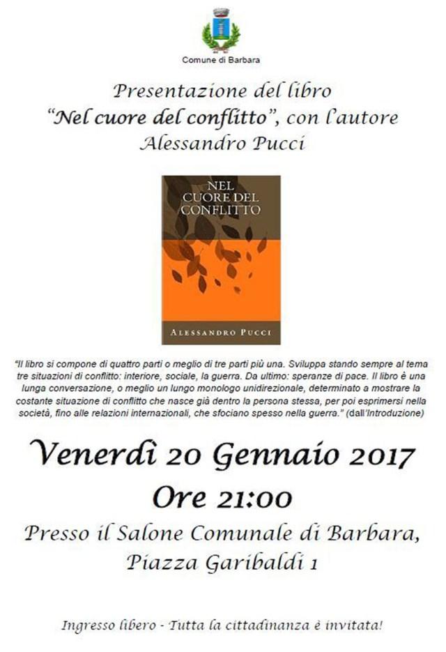 """BARBARA / Venerdì la presentazione del libro """"Nel cuore del conflitto"""" di Alessandro Pucci"""