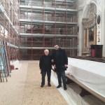 FANO / Sopralluogo nella chiesa di Santa Maria Nuova interessata da lavori post-terremoto