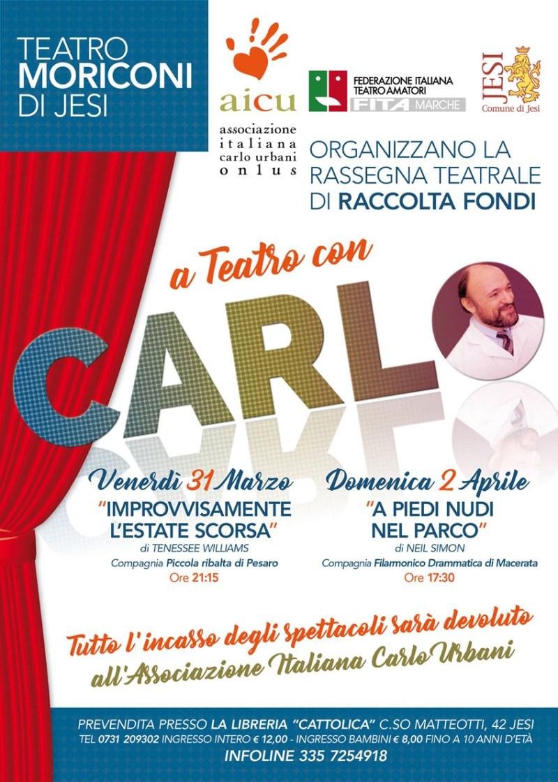 A Jesi e Montecarotto teatro e musica solidale in nome di Carlo Urbani