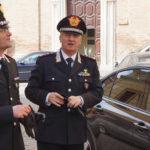 Il generale Ilio Ciceri, comandante interregionale dei Carabinieri Podgora, in visita alla Compagnia di Senigallia