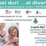 A San Costanzo un convegno sulla prevenzione contro l'osteoporosi