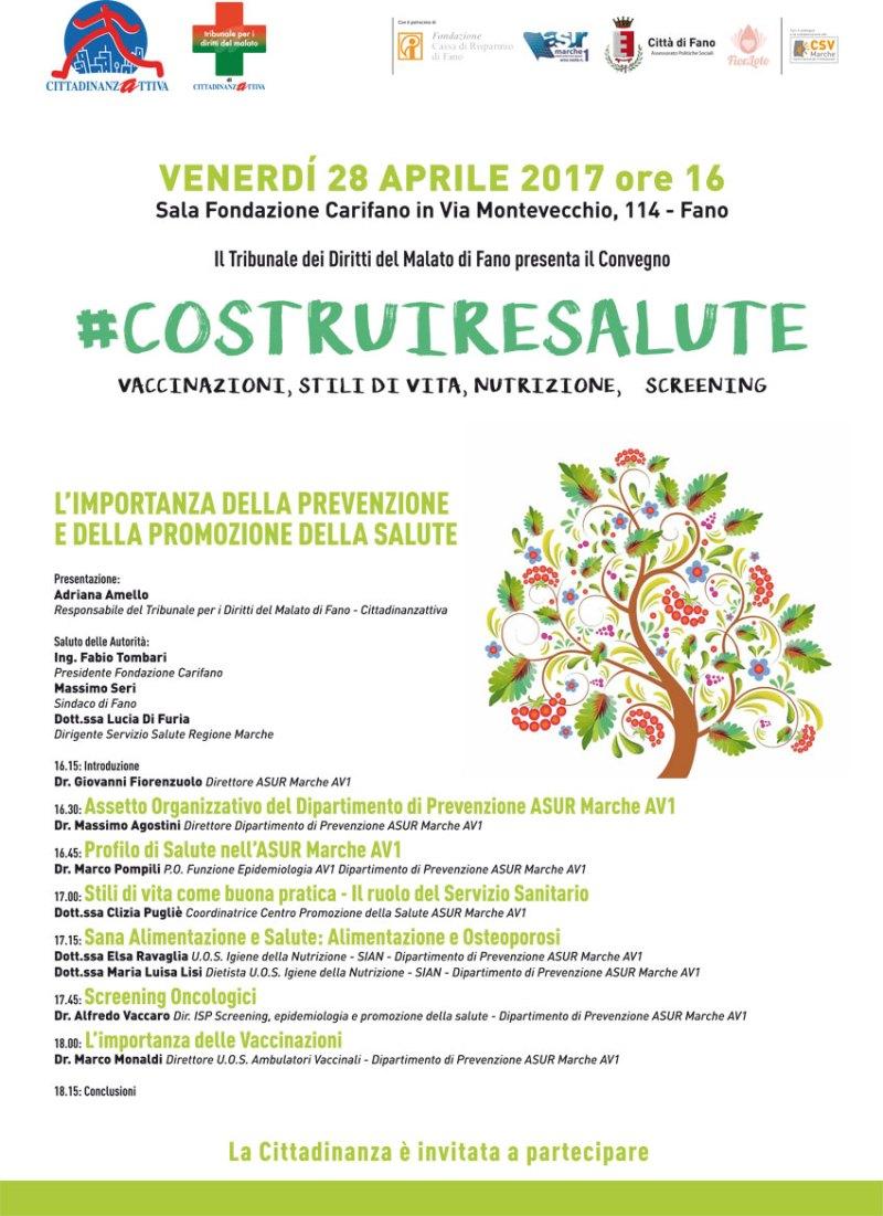 """""""#Costruire salute"""", a Fano un convegno sulla prevenzione a 360°"""