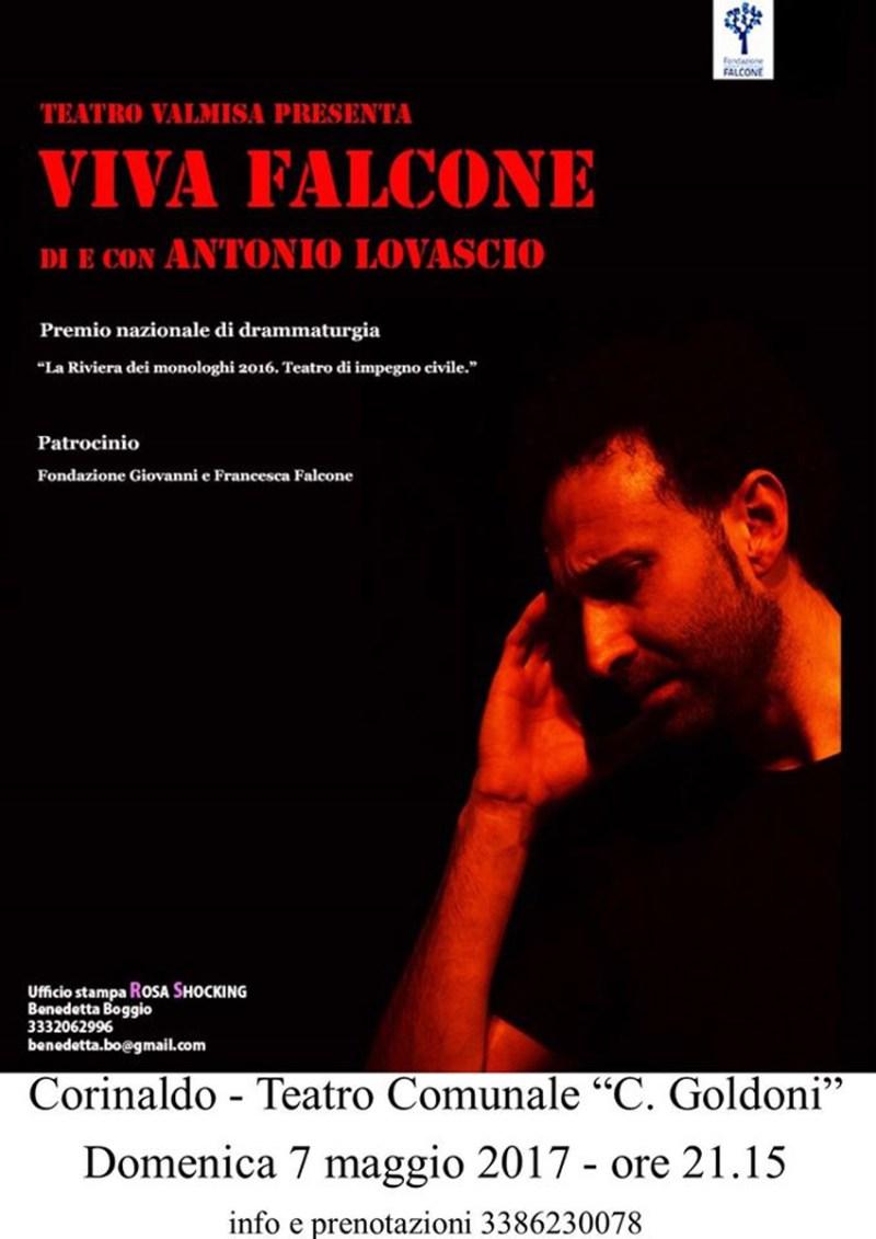 """Con """"Viva Falcone"""" al Goldoni di Corinaldo arriva il teatro d'impegno civile"""