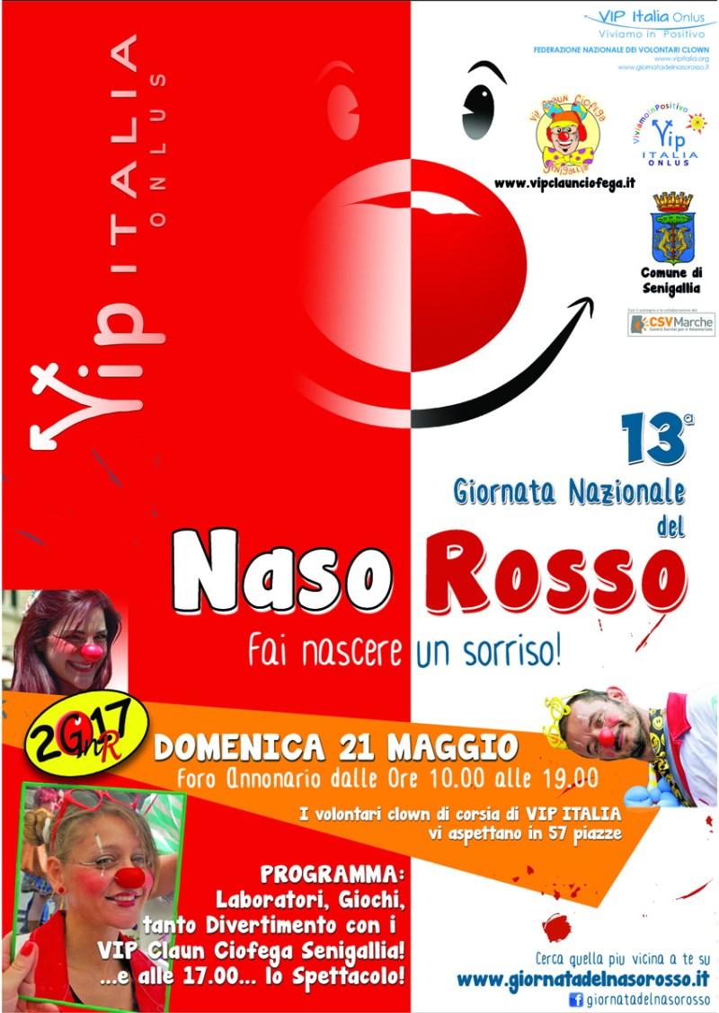 SENIGALLIA / I VipClaunCiofega domenica al Foro Annonario per la Giornata del Naso Rosso