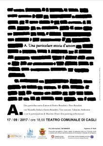 """""""A. una particolare storia d'amore"""" sarà presentato domenica al Teatro Comunale di Cagli"""