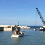 Sono iniziati a Senigallia i lavori per il dragaggio dell'avamporto e dell'imboccatura del porto