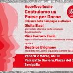 Venerdì a Senigallia Liberi e Uguali chiude la campagna elettorale a sostegno di Beatrice Brignone