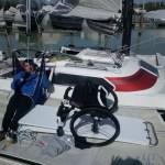 Arriva a Fano il primo velista disabile impegnato in un giro d'Italia in solitaria