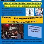 Sabato una bella iniziativa organizzata dal Nomadi Fan Club Stop The World di Chiaravalle