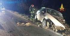 CHIARAVALLE incidente notte provinciale76 jesi feriti vdf2019-08-17-x0 (3)