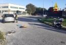 Scontro a Jesi tra un'auto ed uno scooter: una donna finisce in ospedale